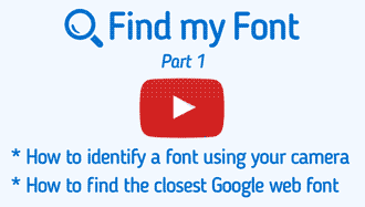 Identify font using your camera
